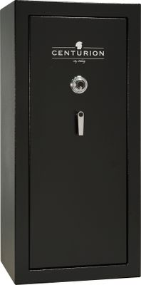 Hunting This 30 minute fire rated safe is outfitted with the superior engineering needed to protect your valuables. Awarded the UL Residential Security Container burglary classification, the Centurion boasts triple-case-hardened steel plates that protect against drilling, five 1-dia. locking bolts, a cam-drive bolt-locking mechanism and a UL-Listed SG Group II lock. The 62,000 BTU and more fireboard that other safes gives the Centurion a 30-minute fire rating at 1,200F. The palusol heat-expanding seal expands up to seven times its size for extra fire protection. Durable, textured black finish. Satin chrome single-point handle and a combination lock. Interior is upholstered with gray 3-in-1 Flex fabric. Included Double Sportsman rack optimizes gun storage. Weight: 440 lbs.Outer dimensions: 59.25H x 28W x 22D.Interior dimensions: 56.5H x 25.5W x 13.5D.Capacity: 9.6 cu. ft. - $799.99