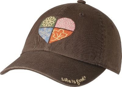 Surf Sit back and relax wearing these popular caps. Comfortable pre-washed cotton twill fabric and embroidered graphics have a stylish, tattered look. Jake face on inside button and embroidery on back. Adjustable snap closure in back. 100% cotton. One size fits most. Imported. Available: Bold Flower/True Blue (not shown), Flip-Flop/Earthy Brown, Happy Here/True Blue (not shown), Lean On Me/Fresh Pink (not shown), Tattered Coin/Green. Size: One Size. Color: Lean On Me/Freshpink. Gender: Female. Age Group: Adult. Pattern: Embroidered. Material: Cotton. - $14.88