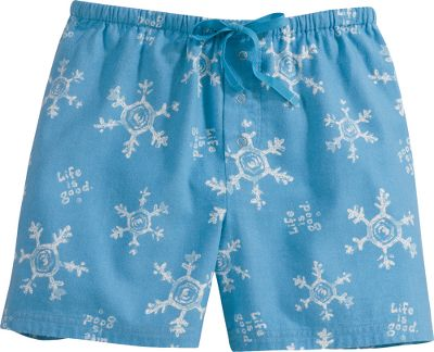 Wake Saturday morning can t get much better when you wake up in these ultra-soft boxers of 100% cotton flannel. Elastic waistband with drawstring. Imported.Sizes: S-XL.Colors: Snowflake/Cobalt, Daisy/Ochre. - $14.88