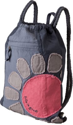 A cute, roomy bag with tattered graphics and a convenient exterior cell-phone pocket. Made of 100% cotton that is fabric- and garment-washed for a soft, broken-in look and feel. Inside hanging pocket. Comfortable corded rope straps. Imported. Dimensions: 16H x 13-1/4W. Colors: Fog Blue, Pebble Gray. - $24.00