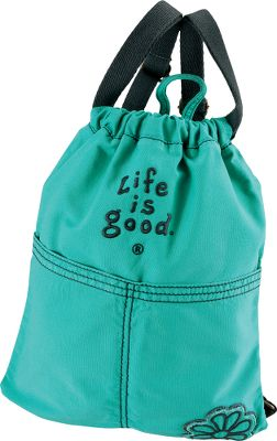 This fun, fashionable cinch-top sack is sure to become your favorite tote for whatever adventures youre on. Brush cotton canvas has been heavy garment washed for a broken-in feel and classic weathered look. Drawcord top closure and two front pockets secure everyday essentials. Shoulder straps are adjustable. Top grab handle. Imported.Dimensions: 16.5H x 13.5W.Colors: Retro Green, True Blue, Aqua Blue, Soft Purple. - $24.88