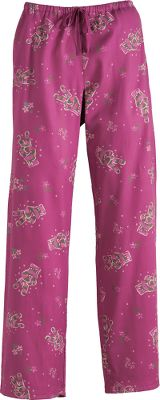 Soft and comfy sleep pants featuring a drawstring waist for a custom fit. 100% brushed-twill cotton is washed for additional softness. Enclosed elastic waistband is comfortable close to the skin. Imported.Inseam: 31.Sizes: S-2XL.Color: Peace Gloves/Magenta. - $22.88