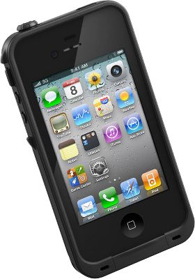 Entertainment Protect your iPhone 4 or 4S from dust particles, shock and even water. Designed to military specifications, this fully sealed Cell-Phone Case keeps your iPhone clean and dry in dusty or wet conditions. You can even take it swimming underwater to two meters and capture those amazing underwater photos. The sleek design weighs less than one oz. and only adds 1/16 to the depth of your iPhone. Double AR-coated glass lenses deliver crystal-clear photo and video clarity. All of your phones features remain operational.Updated feature for 2014 includes a permanently attached headphone jack so theres no need to worry about losing it.5.08L x 2.6W x .42D.Color: Black. Type: Phone Cases. Color Black. - $79.99