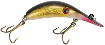 Fishing The River Rockers curved profile and streamlined shape produce an exaggerated, wide rocking wobble that draws toothy strikes and runs true even during high-speed trolling. Versatile crankbait can be cast, flat-line trolled, or used with downriggers, but truly shines when used in fast-running waters. Sizes: LRR3 2-3/8, 3/16 oz., No. 6 hooks. Casting depth 2-3 ft. Trolling Depth: 4-6 ft. LRR5 3-1/8, 5/16 oz., No. 4 hooks. Casting depth 4-5 ft. Trolling Depth: 11-13 ft. LRR7 3-3/4, 1/2 oz., No. 2 hooks.Casting depth 6-8 ft. Trolling Depth: 15-17 ft Colors: (304)Golden Shiner, (305)Perch,(310)Chartreuse Glow, (317)Black Shad, (318)Pink Shiner,(319)Orangeade,(320)Aunt Creepy, (323)Coward, (334)Metallic Silver Red Herring,(326)Firetiger,(338)Metallic Pink, (537)Metallic Silver/Blue Pirate, (540)Metallic Blue Chartreuse/Black Chartreuse. Color: Chartreuse. - $6.19
