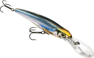 Fishing A dead-on duplicate to the color, profile and action of a rainbow smelt. Internal weights increase casting performance and emit a low-frequency rattle to draw predators in. Per each. Sizes: 2-34 , 38 oz. 3-5/8 , 12 oz. 4-12 , 58 oz. Models: Deep Runner (7-9 ft.) (4-12 only), Shallow Runner (3-5 ft.). Colors: (208)Gold/Black, (201)Silver/Blue. Color: Rainbow. - $14.49