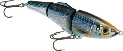 Fishing Game fish that rely on herring as a primary food source will find this lure hard to resist. The sleek, triple-segment body offers an appealing profile and outstanding swimming action. Ultrarealistic eyes team with lifelike and flashy scaled color patterns that will fool wary predators. Slow sinking. Per each. Sizes: 4-1/2, 1 oz. 5-1/2, 1-5/8 oz. 3-1/2, 5/8 oz. Colors: (201) Silver/Blue, (203) Silver/Green, (204) Silver/Bronze (3-1/2, 5/8 oz. only). Color: Blue. Type: Hard Swimbaits. - $13.99