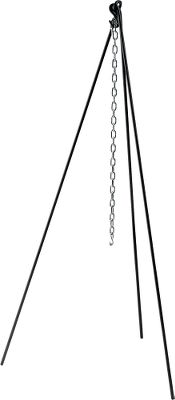 Made from hot-rolled 1/2 bar stock, this tripod is suited for use with Dutch ovens. Galvanized chain included. Available: Standard: 43-1/2 legs and a 24 chain. Tall Boy: 60 legs and a 36 chain. Color: Black. Type: Tripods. - $36.99