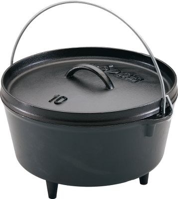 Hunting With a 5-qt. capacity, this deep Dutch oven is perfect for cooking for scout troops, families, large hunting parties and even tailgating. The 10 diameter makes it easy to store and handle, especially when full of roasts, chili, stew or even cobbler. Have a really large group to cook for? Stack multiple ovens on top of each other the flanged lid holds coals to heat the oven above it. Made of pure iron with consistent wall thickness that provides heat without hotspots for consistent cooking and delicious outcomes. Color: Black. Type: Dutch Ovens. - $69.99