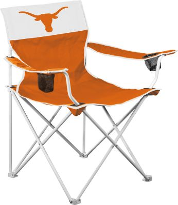 "Sports If you're a big sports fan in both heart and body, this is the seat you want to enjoy the game live and in comfort. It will also help you show support for your favorite team. The 24.5"" x 24.5"" seat is wrapped in a double layer of rugged 600-denier material. The white-powder-coated steel frame is rated to hold 350 lbs. and easily sets up almost anywhere. Team logos appear on the front, back and on the included carry bag. Two cup holders. Imported. Available:Alabama Florida Georgia Kentucky Louisiana StateMichigan NebraskaNorth Carolina Notre Dame Ohio State Oklahoma Southern CaliforniaTennessee Texas Virginia Tech West Virginia - $39.99"
