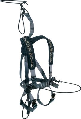 Hunting Employ this premium, 6-point fall-arrest system for the ultimate in treestand safety. Padded shoulder straps and yoke. Adjustable shoulder, leg and waist straps provide a custom fit. Built-in EZ-Release leg buckles and suspension trauma release device. Includes Lineman's rope assembly, carabiner rope assembly and suspension trauma release device. Tested to TMA standards.For use with ladder and climbing treestands only, or fixed position (hang-on) treestands when used with the optional Hunter Safety System Linemans Belt. Cabelas strongly recommends the use of a Hunter Safety System Linemans Belt with any Hunter Safety System vest harness. A Video Public Service Announcement from theTREESTAND MANUFACTURERS ASSOCIATION - $149.99