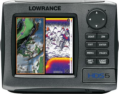 "Fishing With Lowrance-exclusive Broadband Sounder you will see fish you could never see before. This award-winning fish-finding technology displays more targets with greater sensitivity and higher definition. You get superior target marking in all conditions, so you can find more fish hiding in any cover. Bottom contours will show up better than ever. The advantages don't stop there. You'll always know where you are on the water, thanks to the super-sensitive internal GPS antenna. All HDS models are also fully compatible with Sirius real-time weather and radio services available through affordable inland and offshore packages. Use the built-in Ethernet connection to share high-speed, high-bandwidth data with all HDS displays on your boat, including sonar graphs, navigation, Sirius weather/radio and radar. The 5"" high-performance display delivers 480x480-pixel resolution and is easier to use with brilliant displays, menus and keypads. Additional features include a built-in broadband high-definition sounder, a super-sensitive GPS antenna and Sirius satellite weather and radio package options. A SD card slot lets you expand memory for optional detail mapping display and sonar/GPS data recording. Available with built-in, exclusive Insight high-definition mapping with amazing contour shading or Enhanced US Basemap. Most mapping options include Platinum series with Turbo View feature. Expandable and ready-to-network on NMEA 2000 and Ethernetworks. Expanded two-year warranty.Fish have nowhere left to hide with StructureScan. Get true 180 , panoramic sonar imaging with the most advanced imaging system on the market. The StructureScan module merges high-resolution data with its high-speed Ethernet from three field-proven systems SideScan imaging, DownScan imaging and 2-D sonar. This fish-finding triple-play provides a complete underwater picture in split-screen format on any HDS system. This sleek, simple-to-install system includes a low-profile transducer and the LSS-1 bl... - $899.88"
