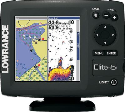 "Fishing A 5"" color, 480x480-pixel, enhanced Solar MAX display with fully adjustable screen and CCFL backlit keypad offers the best combination of brightness, contrast and resolution ever. Powerful 4,000-watt peak-to-peak, 500-watt RMS, 20 /60 dual-beam transducer provides legendary sonar performance and coverage. Sonar history scrollback permits you to go back and look at previous GPS and sonar screens to find and mark waypoints. Graphically enhanced menus make operation simple. Quick-release, tilt-and-swivel bracket makes removal and adjustment easy. Broad-coverage 83/200kHz frequency. Skimmer-type transducer with built-in temperature reads depths to 1,000 feet. Combo unit has 16-channel internal GPS antenna that works great even when backmounted. Compatible with Fishing Hot Spots, Lake Master, Navionics Premium and others. Stores up to 1,000 waypoints and 100 retraceable plot trails. Micro SD mapping card slot. One-year manufacturer's warranty. - $359.88"