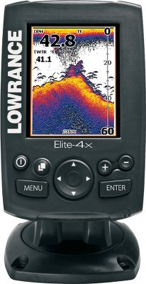 Fishing Bright, high-contrast, 3.5 320x240-pixel LED color display for optimal viewing in any boating weather 2,100-watts peak-to-peak/262-watts RMS 83/200kHz DualBeam transducer Easy-to-use menu controls allow one-hand operation Quick-release tilt-and-swivel bracket included Up to 120 of fish-finding coverage Unique TrackBack sonar scroll-back to review covered water Transom-mount skimmer transducer with temperature sensor - $139.88
