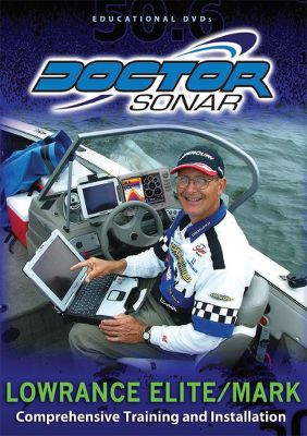 Fishing A complete tutorial DVD that covers the Lowrance Elite and Mark models. Topics range from installation and setup to menus, sonar and GPS settings. 110 minutes. - $10.88