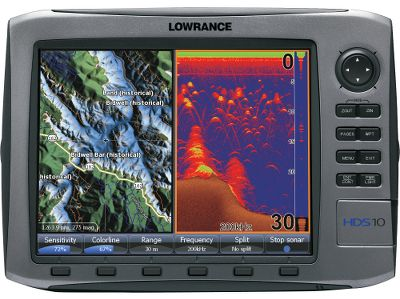 "Fishing With Lowrance s-exclusive Broadband Sounder you will see fish you couldn t see before. This award-winning fish-finding technology displays more targets with greater sensitivity and higher definition. You get superior target marking in all conditions so you can find more fish hiding in any cover. Bottom contours will show up better than ever. The advantages don t stop there. You ll always know where you are on the water thanks to the super-sensitive internal GPS antenna. It s also fully compatible with Sirius real-time weather and radio services available through affordable inland and offshore packages. Use the built-in Ethernet connection to share high-speed, high-bandwidth data with all HDS displays on your boat, including sonar graphs, navigation and Sirius weather/radio and radar. The HDS-10 features a widescreen 10.4"" SVGA display with crystal-clear 600x800-pixel resolution and an easy-to-operate soft-touch keypad. One-year warranty.Choose exclusive Lowrance mapping plus Insight high-definition charts or the enhanced U.S. basemap:All HDS chart-plotter models with the enhanced U.S. basemap feature complete U.S. geographical coverage for more than 100,000 bodies of water and nearly 5,000 enhanced U.S. lakes with highly detailed shorelines and depth contoursInsight high-definition mapping delivers unprecedented detail with lightning-fast map-screen updatesInsight USA combines inland and coastal coverage of Lake Insight , including more than 60,000 marked Fishing Hot SpotsCompatible with complete range of Navionics mapping cartridges, including Platinum and Platinum PlusAll HDS units feature Turboview for enhanced viewing with top-of-the-line Navionics Platinum 3-D chartsHDS chart-plotters are fully compatible with all Lowrance plug-and-play choices, including Lake Master Pro Maps, Fishing Hot Spots Pro, NauticPath and FreedomMaps Lowrance HDS-10 includes:Vastly improved angler control, with unique FlyWheel scroll dial, plus soft command keys, for fa... - $1,899.00"