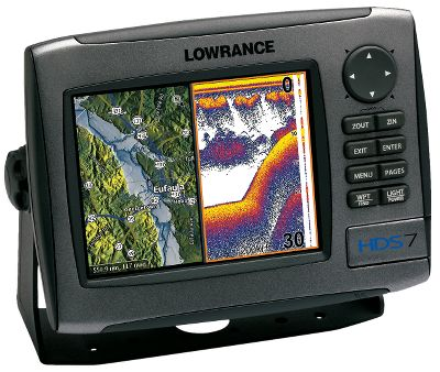 "Fishing Enter the new era of fish finding with the HDS series by Lowrance. With Lowrance s-exclusive Broadband Sounder you will see fish you couldn t see before. This award-winning fish-finding technology displays more targets with greater sensitivity and higher definition. You get superior target marking in all conditions, so you can find more fish hiding in any cover. Bottom contours will show up better than ever. The advantages don t stop there. You ll always know where you are on the water thanks to the super-sensitive internal GPS antenna. It s also fully compatible with Sirius real-time weather and radio services available through affordable inland and offshore packages. Use the built-in Ethernet connection to share high-speed, high-bandwidth data with all HDS displays on your boat, including sonar graphs, navigation and Sirius weather/radio and radar. The HDS-7 features a panoramic 6.4"" SVGA display with crystal-clear 480x640-pixel resolution. 6 month warranty.Choose exclusive Lowrance mapping plus Insight high-definition charts or the enhanced U.S. basemap:All HDS chart-plotter models with the enhanced U.S. basemap feature complete U.S. geographical coverage for more than 100,000 bodies of water and nearly 5,000 enhanced U.S. lakes with highly detailed shorelines and depth contoursInsight high-definition mapping delivers unprecedented detail with lightning-fast map-screen updatesInsight USA combines inland and coastal coverage of Lake Insight , including more than 60,000 marked Fishing Hot SpotsCompatible with complete range of Navionics mapping cartridges, including Platinum and Platinum PlusAll HDS units feature Turboview for enhanced viewing with top-of-the-line Navionics Platinum 3-D chartsHDS chartplotters are fully compatible with all Lowrance plug-and-play choices, including Lake Master Pro Maps, Fishing Hot Spots Pro, NauticPath and FreedomMaps Lowrance HDS-7 includes:User-friendly menu display lets you fly through control functions with ease ... - $949.00"