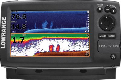 Fishing Put the power of two award-winning technologies to work. This Hybrid Dual Imaging (HDI) combo teams up the fish-marking and lure-tracking power of the Broadband Sounder with picture-like detail of DownScan Imaging (DSI). This revolutionary combination displays a DownScan Imaging overlay with one of the most stunning views of the aquatic terrain beneath your boat. This easy-to-read, full-color image separates and clearly exposes fish targets from surrounding structures. Transparency and color palettes are fully adjustable to get a crystal-clear image under any condition. The 7, widescreen, color display boasts brilliant, detail and clear visibility in all conditions. Proven Advanced Signal Processing reduces manual adjustments to automatically see fish and bottom details quickly and easily. The TrackBack feature lets you scroll back into the sonar history to review covered areas and to pinpoint potential fishing spots. Advanced NMEA 2000 networking compatible. The multiwindow display lets you choose three panels in split-screen mode, and the page selector delivers a simplified menu system with quick access to all features. One-year warranty. Type: Sonars. - $439.88
