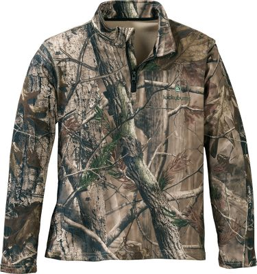 Hunting Wind and water-resistant performance pullover features four-way stretch with moisture-wicking properties so your child stays drier and warmer, no matter what the activity. The 1/4-zip front makes it easier to put on and take off, and the midweight polyester fabric carries your child through the seasons. Imported.Sizes: XS-XL.Camo pattern: Realtree AP. - $39.99