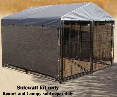 Hunting Keep your dog cool and dry with a wind-screen side kennel cover. Bungees included for quick, easy installation. Covers three sides of your kennel, excluding the top. One-year manufacturers limited warranty. Available: 25' wind screen Dimensions: 25'L x 5'H. Fits: 10' x 10' x 5' kennel 30' wind screen Dimensions: 30'L x 5'H. Fits: 10' x 10' x 10' kennel Size: 5 X 25. Type: Kennel Accessories. - $54.99
