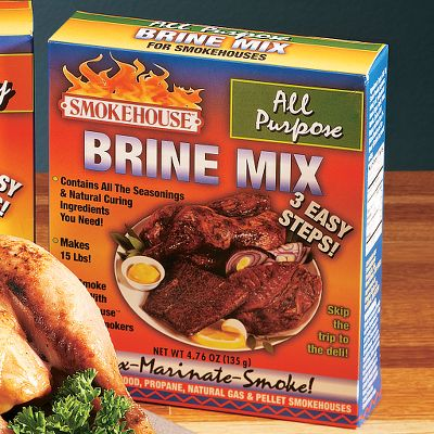 Take the guess work out of brine with these mixes. Available: All-Purpose Brine, Jerky Brine, Trout and Salmon Brine, Upland Game Brine. Type: Brines & Cures. - $7.99