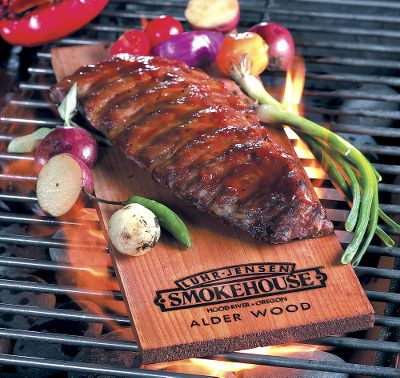 Camp and Hike Add delicious wood-smoke flavor to everything you grill or barbecue with these wood planks. Simply soak and place on your heat source with meat or vegetables on top. Per 3.Available: Alder, Cedar. Type: Wood & Charcoal. Cedar. - $7.88