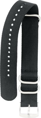 Guns and Military 22mm-wide, NATO-black nylon watch strap with 1.5mm thick webbing, two fixed brushed-steel loops and a solid-steel signature buckle. This Luminox replacement piece fits the EVO Navy SEAL, Blackout, Original Navy SEALS Dive Series I and II, and the SEAL Dive watches. (3,000, 3,900, 3,050 Series watches and the 8,401 model.) Color: Black. Gender: Male. Age Group: Adult. Material: Nylon. - $30.00