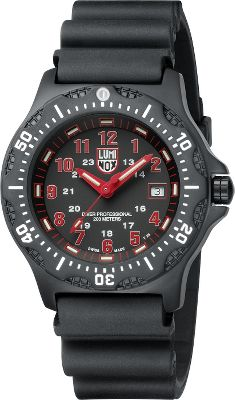 This Swiss-made dive watch is built extra-rugged for decades of reliable use. Luminox's proprietary technology, formerly reserved for the military, offers constant visibility without the need to push a button or expose it to light. Its precision quartz movement keeps perfect time and runs a convenient day/date function. It has a 43mm-diameter stainless steel PVD-plated case with a scratch-resistant mineral crystal that's water-resistant down to 600 ft. (200 meters). Includes a durable polyurethane strap with security buckle. - $375.75