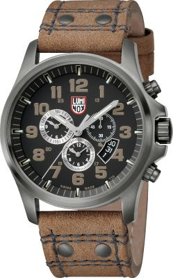 This watch is one in a long line of rugged and precise Luminox timepieces. The Atacama features a chronograph face for stopwatch functionality. The famous illuminating microgas tubes last for a quarter-century. Sapphire glass with an anti-reflective coating is extremely scratch-resistant. A PVD-plated stainless steel case withstands the most rugged environments on the planet. Quartz movement for accurate timekeeping. Adjustable genuine-leather strap offers a custom fit. Water-resistant to 100 meters. Case diameter: 47mm. - $639.99
