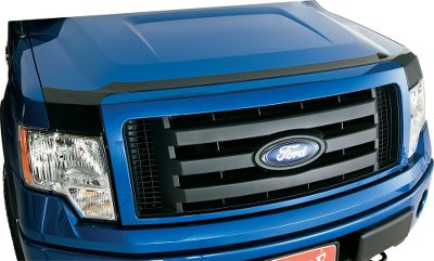Motorsports Protect your truck from rocks, chips and bugs with this easy-to-install hood protector. Flush mount directly to the hood with 3M tape. Shaped and fitted to each vehicle, the protector complements the appearance of the original grill, adding style and protection. Direct-to-hood mounting fits new vehicle designs that don't accommodate traditional hood shield mounts. An added bonus is the possibility of better mpg than with traditional off-the-hood shields, because the original airflow design by the manufacturer is maintained. Available: Smoke. Color: Smoke. Type: Hood Protector. - $49.99