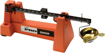 Updated with a high-impact styrene base, the Pro 500 Scale zeros in seconds and delivers the pinpoint accuracy you demand. High-end components include an extra-large leveling wheel, dual agate bearings and a large dampener. 500-grain capacity. Accurate to 1/10 grain. Type: Balance Beam Scales. - $50.39