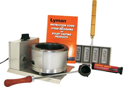 Everything you need to start casting your own bullets except the bullet molds and lead. The kit comes with a Big Dipper electric casting furnace that has a capacity of more than 10 lbs. You'll also receive a Lyman casting dipper, Super Moly bullet lube and an ingot mold for storing excess lead. The Instruction Guide for Lyman Reloading and Bullet Casting Products comes with the kit as well. Gender: Male. Age Group: Kids. Type: Lead Casting Kits. - $82.99