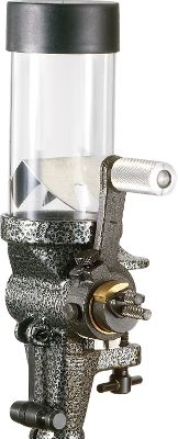 A 2,400 grain reservoir with a unique three-slide adjustable cavity dispenses almost any powder with consistent accuracy to a fraction of a grain. An attached knocker assures a complete charge every time. Mount the #55 on your bench or any turret press. No funnel required. Includes a 7/8 x 14 thread adapter for press or stand mounting. Powder Measure Stand sold seperately. - $86.99