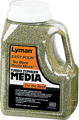 Turbo Case Cleaning Media is specially treated corn cob media and works in all Turbo Tumbling Systems. A few hours in a Lyman Turbo Tumbler and Cases are clean, polished and ready for reloading. Sizes: 10 lb. box, 16 lb. tub. Type: Tumbler Media/Polish. - $22.99