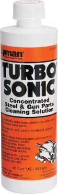 Hunting Special concentrate formulated to get top-notch results from Turbo Sonic and other sonic case cleaners. Use this solution for steel and stainless steel parts such as barrels, cylinders or other parts. Size: 16 oz. bottle. Color: Stainless Steel. - $16.99