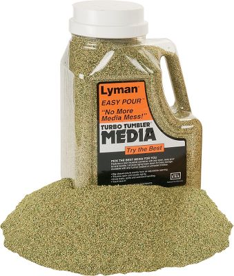 Specially treated corncob media works in all Turbo Tumbling systems. A few hours in a Lyman Turbo Tumbler and cases are clean, polished and ready for reloading.Size: 2.25 lbs. - $7.88