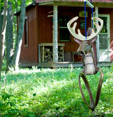 Camp and Hike A new take on the traditional tire swing, this top-quality swing combines the fun of an outdoor classic with modern safety and convenience. Shaped like a trophy whitetail for your little hunting enthusiast. Fully assembled and ready to hang and ride. The trademark recessed seat offers a secure, comfortable ride. No exposed sharp edges make it boo-boo-free for pure outdoor fun. Rust-resistant hardware and decay-resistant nylon rope for lasting durability. Includes PVC stabilizer bar. 175-lb. capacity. Type: Swing Sets & Accessories. - $89.99
