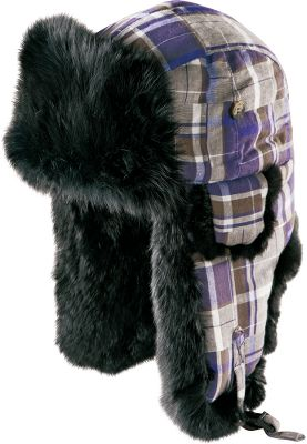 Toasty flannel, warm insulation and soft rabbit-fur trim make this hat comfortable as well as stylish. Adjustable chin strap. Imported. Sizes: M-XL. Color: Purple/Brown. Type: Headwear. Size: X-Large. Color: Purple/brown. Size Xl. Color Purple/Brown. - $24.88