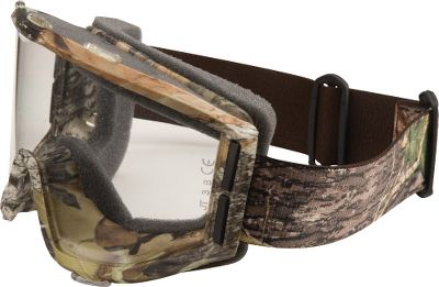 Ski Protection and comfort come together in goggles featuring Comfort Fit Technology. Lightweight sports styling contours the face, making these less bulky than other goggles. Foam padding seal keeps the wind and dust out. Lenses are 99% efficient in blocking UV rays and constructed of impact-resistant plastic with fog- and scratch-resistant coating.Camo pattern/color: Mossy Oak Break-Up/Black. - $6.88
