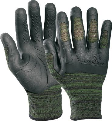 Hunting These all-purpose gloves are great for setting up treestands or filling feeders, field dressing, fish cleaning and warm-weather hunting. They offer superior durability and comfort compared with the standard nitrile or rubber-dipped gloves. Featuring seamless cushioning and wet-grip technology, these gloves are sure to be your go-to pair. The unique tread system displaces water and oils. Pre-curved fingers improve dexterity. Breathable knit back. Machine washable. Imported.Sizes: S/M, L/XL, 2XL.Color: Green Camo. Type: Gloves. Size: 2 X-Large. Camo Pattern: Green Camo. Size 2xl. Color Green Camo. - $7.99