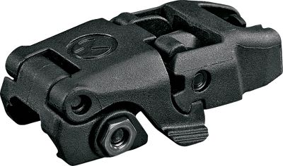 Affordable, injection-molded folding front and rear back-up sights. Elevation-adjustable front sight has a built-in, spring-loaded post detent. (Note: Polymer construction not compatible with railed gas blocks.) Dual-aperture rear sight is adjustable for windage. Its tailored to the AR-15 platform. Fits all mil-spec 1913 Picatinny rail-equipped weapons. Available: Front, Rear. Colors: Black, FDE. Color: Black. Type: Sights. - $39.99
