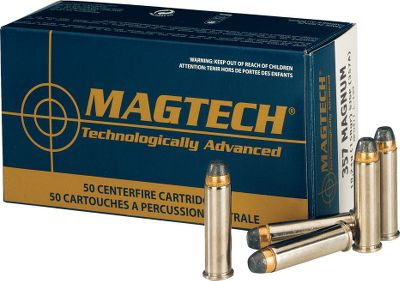 Affordable pricing meets premium performance. Magtech ammunition is designed, constructed and tested in one of the largest, state-of-the-art cartridge manufacturing facilities in the world. All components are manufactured in-house using the highest quality materials and latest manufacturing techniques to ensure ammunition meets the highest standards. Because the primers, propellants, brass and bullets are all made and assembled in the same facility, quality control in assured at every stage of production and cost is reduced. You enjoy value-packed ammo that delivers top-notch performance. Brass casing. Per 50. Type: Centerfire Handgun Ammunition. - $13.99