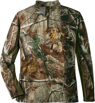 Hunting Made of a 98/2 polyester/spandex jersey blend, the Mahco Mens Scent Factor Performance Top has the perfect combination of fit and function. The Scent-Factor silver-based scent inhibitor works to help control human odor, while the 3M moisture-management wicking treatment moves moisture away from your skin. 1/4-zip with a standard zipper pull. Imported. Sizes: M-2XL. Camo patterns: Realtree XTRA Green, Mothwing Mountain Mimicry. Size: XL. Color: Xtra Green. Gender: Male. Age Group: Adult. Material: Polyester. - $12.88