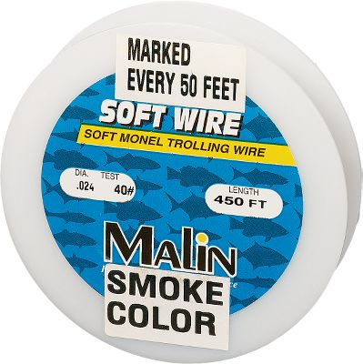 Fishing The trolling wire of choice for experienced wire-line anglers. It has exceptional resistance to kinking, corrosion and abrasion, and it sinks faster and stays deeper than soft stainless steel due to its high density. The wire is pre-marked every 50 feet. 450 feet total. Available: 30, 40, 50-lb. test. Colors: Brite, Smoke. Color: Smoke. Type: Saltwater Line / Specialty Lines & Wire. - $74.99