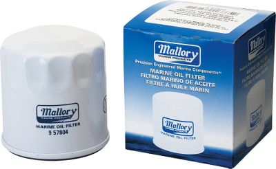 Motorsports Mallory Marine oil filters protect marine engines. High-efficiency filter media removes harmful particles from oil to prevent premature wear of components. High filtration capacity holds up to 45% more waste than other leading national brands. Meets or exceeds all OEM specifications. - $4.88
