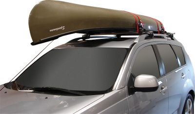 Kayak and Canoe A complete canoe transport system that fits virtually all factory and aftermarket roof racks and canoe styles. Solid four-point platform safely transports canoe. Includes four padded gunwale brackets, four universal JAWZ mounting blocks, eight mounting bolts with T-knobs, a set of bow and stern safety tie-downs and two 12-ft. cam buckle straps. No tools required for assembly. Corrosion- and UV-resistant polycarbonate frame. Manufacturer's lifetime warranty. Does not include roof rack or crossbars. Capacity: 80 to 90 lbs. Dimensions: 5.5 L x 5 W x 4.5 H. Type: Accessories. - $99.99