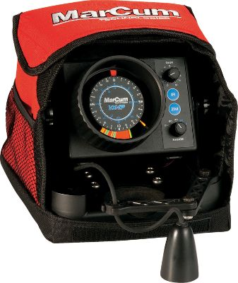 Motorsports Professional-level performance at an incredibly affordable price. Features include MarCum's patented interference rejection, an adjustable, automatic bottom zoom and a bright, super-readable display. 1,000 watts peak-to-peak power with 2-1/2 target separation delivers precise structure- and fish-identifying sensitivity. Complete with battery, battery charger, electronics shuttle with adjustable transducer arm and gimbal bracket. It's all contained in a professional-grade soft pack, organized and ready for your next trip to the lake. Type: Flashers. - $319.99