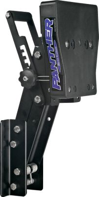 Fitness Auxiliary outboard motor brackets are built to handle choppy water and heavy-stroke engines. Mounting bolts not included. Safety cable included. Available: Stainless Steel Bracket Makes it easier to lift and lower two-stroke motors up to 20hp thanks to husky, secured stainless steel torsion springs that counterbalance the motors weight. Features built-in transom angle and positive or negative trim adjustment. Wide mounting brackets for stability. Made of reinforced stainless steel. 2-thick x 11-1/2-wide poly mounting board. Mounting hardware included. Four-Stroke Bracket An easy-to-operate locking bar that lets you adjust your trolling or auxiliary motor through any of the five vertical running positions. Black-satin anodized-aluminum bracket handles the increased weight and torque output of four strokes rated up to 35hp with long or short shafts. Twist-knob safety brackets secure the bracket in place. Motors weight is counterbalanced by heavy-duty stainless steel torsion springs. 2-thick, extra-wide black poly mounting board. Stainless steel hardware. Choose from 10 or 16 of vertical travel. Lightweight Four-Stroke Bracket Adjustable, hard-coat, anodized-aluminum bracket mounts four-stroke motors up to 15hp, two-stroke motors up to 20hp and holds up to 130 lbs. Twist-knob safety locks provide increased torque rating. Heavy-duty stainless steel torsion springs counterbalance motor for easy lifting. Fixed-Mount Motor Bracket Outboard motor bracket mounts engines up to 15hp and holds up to 85 lbs. Made of heavy-duty stainless steel. Includes 2-thick polypropylene mounting board and hardware. Transom Pad Protects your transom, cushions motor vibration and reduces noise. Made of oil- and weather-resistant rubber. Size: Color: Stainless Steel. - $219.99