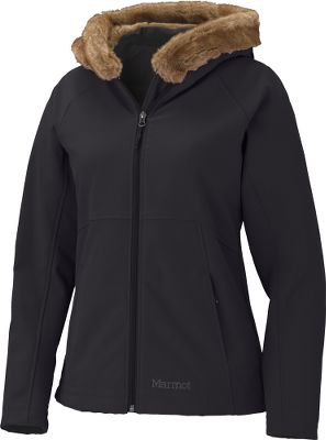 "Luxury is now redefined for the modern outdoor enthusiasts. Marmots M-series products feature breathable, stretchable nylon thats abrasion-, wind- and rain-resistant. Zip-close handwarmer pockets are lined with soft fabric. Warm, faux-fur lined hood. 9.6-oz. 85/15 nylon/elastane. Athletic cut. Imported. Center back length for size M: 25"". Sizes: S-XL. Colors: Everglade, Black. - $109.88"