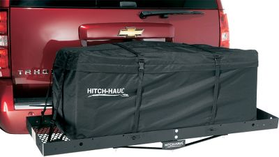 Entertainment Take Masterbuilts Hitch-Haul Cargo Bag on your next vacation and keep all your belongings dry and secure. An excellent choice if your vehicle has limited storage space, secure everything on your vehicles rooftop luggage rack or on any Hitch-Haul cargo carrier. Unique permanently attached tie-downs hold the bags to your luggage rack or cargo carrier. Waterproof weather shield locks out the elements to protect your belongings. Collapse and store in the included carry bag when not in use. Imported. Available:Universal Bag (48L x 20W x 19H). - $49.99
