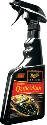 Motorsports With more than 100 years experience, Meguiars is the trusted name in high-quality marine cleaning products. Available: Ultimate Quik Wax - The fast way to a brilliant shine and lasting UV protection without any of the white residue of lesser spray waxes. Hydrophobic polymer technology delivers superior water-beading protection. Hot Rims Wheel Cleaner - Xtreme Cling foam clings to vertical surfaces to break down stubborn road residue. Safe for all factory, clear-coated and painted wheels. Color: White. - $1.88